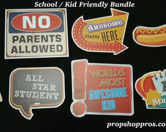 Back To School Photo Booth Props | School Signs | School Props |Back To School Signs