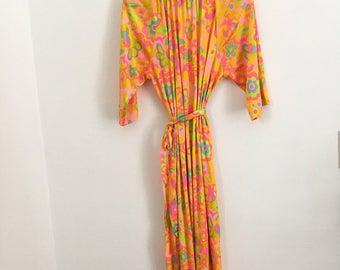 Vintage Mod Floral Dress / Groovy Dress / Retro / 50s 60s Dress