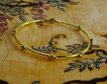 Diamond 14 KT Gold Bangle Bracelet
