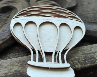 Hot Air Balloon Chipboard Die Cut, Card Embellishments, Up Up and Away Die Cut, Scrapbook Embellishment, Scrapbooking Supplies