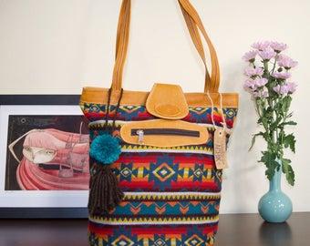 Boho Shoulder bag, Red Boho shoulder bag, Red tote bag, Ethnic Tote bag, Woven fabric bag, Boho bag, Medium boho bag