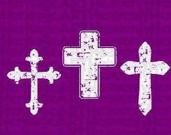 Distressed cross svg, svg, Easter, Easter svg, grunge cross svg, cross svg, Christ svg, religious svg, cut file, cricut, silhouette