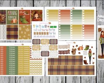 Fall Planner Stickers, for Erin Condren Planner Stickers, Mambi Happy Planner Stickers, Leaves Planner Sticker, Autumn Planner Stickers
