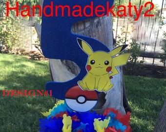 Pokemon centerpiece party decoration