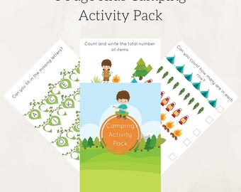 Educational printables , Camping kids games Worksheets Activities