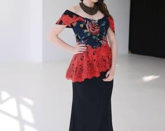 Black dress, vyshyvanka, vyshyvanka dress, ukraine dress, embroidery dress, vyshyvanka maxi, ukrainian embroidery dress, prom dress