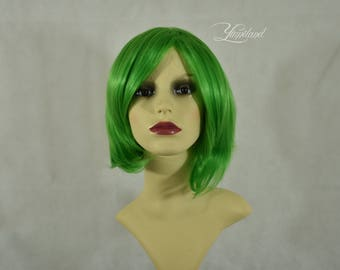Short Green Wig | Short Wig | Green Wig | Festival Wig | Party Wig | Cosplay Wig - short wig with high quality synthetic hair