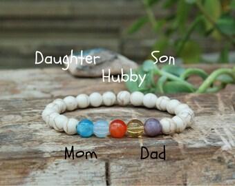Birthstone Bracelet Personalized Bracelet Family Christmas Gift Ideas under 25 Birthstone Grandmother Gift Custom Birthstone Jewelry
