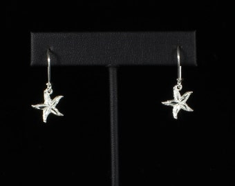 Starfish Hanging Earrings in .925 Sterling Silver