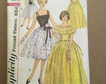 Vintage Simplicity Pattern 3822 Junior Miss and Misses Size 12 Bust 32 1950's