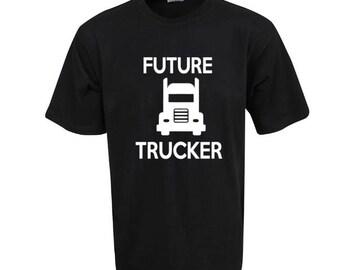 Kids T, Kids Shirt, Future Trucker, Trucky Kids, Funny Shirts, Pre Shrunk 100% Cotton, Thick Shirts.