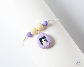 Tamagotchi bracelet lilac color – Tamagotchi jewelry, Tamagotchi 90s jewelry, 90s brecelet, kawaii bracelet, Tamagotchi inspired