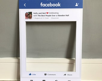 Personalised Facebook Style Frame Prop | Perfect for weddings & parties! | 3 sizes available