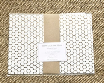 Honey Geo Print, Wrapping Paper