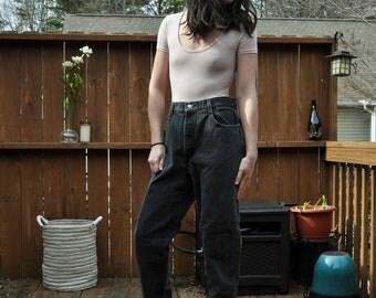 Vintage Black Gitano High Waisted Mom Jeans Size Small Denim