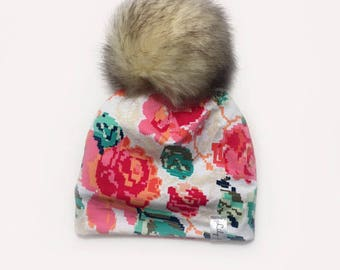 fake fur pompon hat