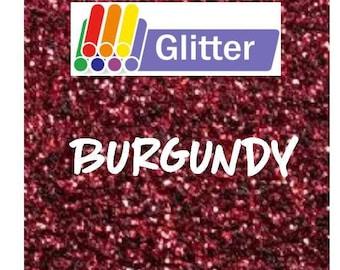 Siser Glitter Heat Transfer Vinyl - Iron On - HTV - Burgundy