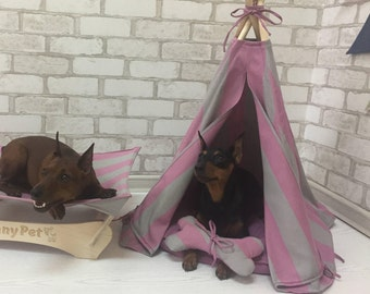 Teepee, Pet Teepee, Dog Teepee, Tent Pet, Tipi, Pet bed, Dog house, Cat tent, Teepee tent for pet, Favorite place of a p