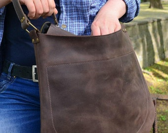 Leather crossbody bag, leather purse, leather camera bag, crossbody bag leather, cross body purse, crossbody purse leather,brown bag leather