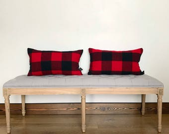 Black and red pillow, Pendleton pillows, buffalo plaid pillows, home dec pillows