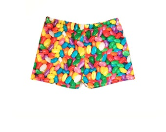 Print Shorts, Easter, Jelly Beans, Yellow, Pink, Blue, Green, Fits dolls such as American Girl, 18 inch Doll Clothes, Mix and Match