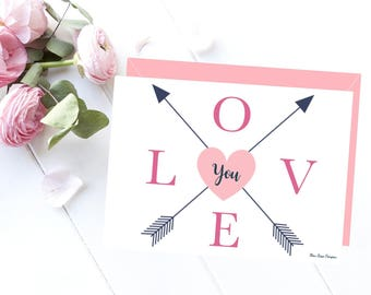 Love card printable, Printable card, Love card, Love card for her, Card for her, Last minute gift, Love gift