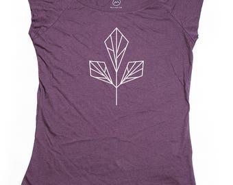 Ninus - Trefoil, Hand-printed Bamboo Women's T-Shirt