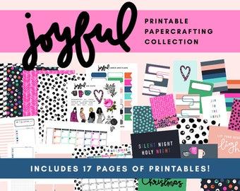 Joyful Printable Papercrafting Collection - December 2017