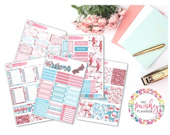 Flamingo Weekly Planner Sticker Kit WV042 for use with ERIN CONDREN LIFEPLANNERTM