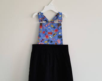READY TO SHIP - Apron Dungaree Pinafore Overall Dress Size 3 - Pepperberry Dress
