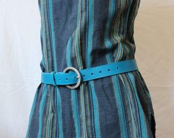 blue leather belt. blue leather belt; women leather belt. leather belt