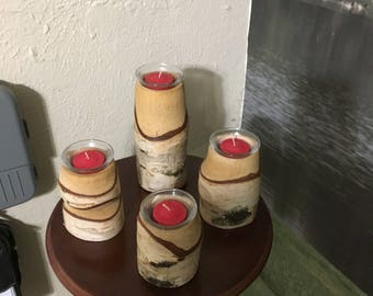 Custom made candle set from White Birch