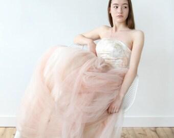 draped wedding dress