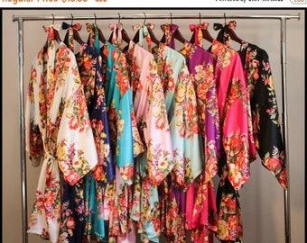 ON SALE Set of 1,2,3,4,5,6,7,8,9 bridesmaid robe, bridesmaid gift, gift for bridesmaid, robe for bridesmaid, bridesmaid robe, bridal party r
