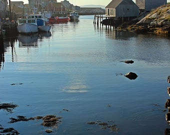 Card with photo - finish is glossy on custom orders - all occasions - blank - Peggy's Cove - Nova Scotia