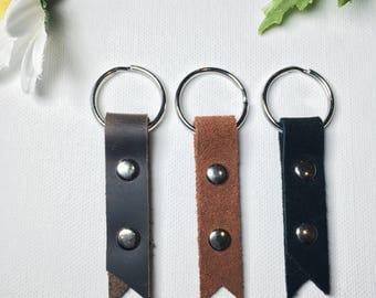 Leather Keychain, Handmade Leather Keychain, Leather Keyring, Leather Key Fob, Keychain, Key Fob, Key Ring, Handmade