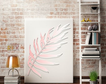 Pink Palm Canvas