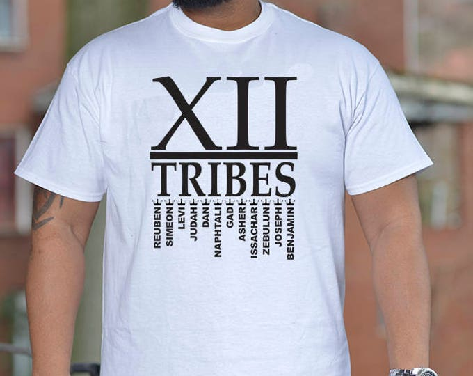 XII TRIBES WHITE T-Shirt (Place Your Color Option in Notes to Seller)