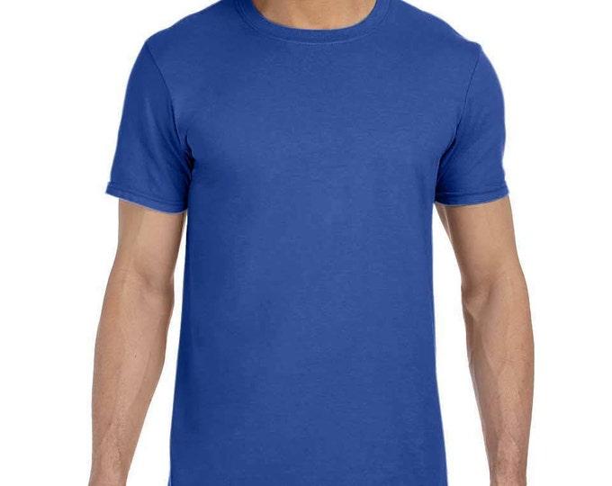 Blank Royal Blue T-Shirt with Fringe Options