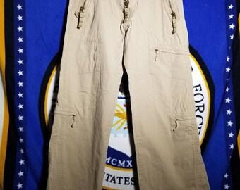 Diesel Tan Multi Zips Cargo Pants 30