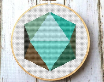 Mid Century Modern Geometric Cross Stitch Pattern PDF Instant Download Modern embroidery Wall decor X062