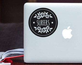 Surfers Decal Surfing Apple MacBook Sticker / Surfing Laptop Decal / iPad Decal vinyl sticker