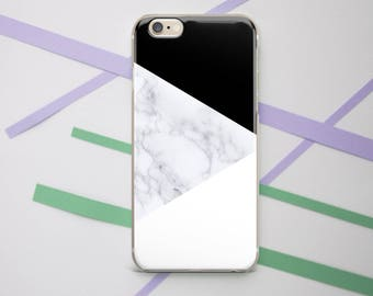 Geometric White Marble iPhone X case iPhone 8 case iPhone 7 Case iPhone 6 Case Galaxy s7 case Galaxy s8 case Google Pixel 2 case OC_168