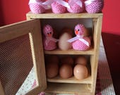 6 Pink Easter chick egg holders, Easter chicks, Pink chick, Chocolate egg holder, Hand knitted chick, Easter Chick, Easter gift, Egg holder