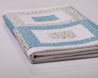 Blue flowered designer blanket