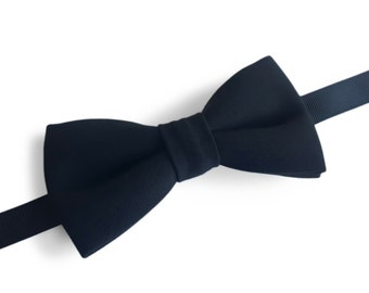 "Classic Black Pre Tied Bow Tie ""Shaw"", Best Handmade Gift For Man, Weddings, Birthday, Valentines Day"