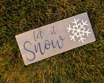 Let it Snow Snowflake String Art *Made-to-Order*
