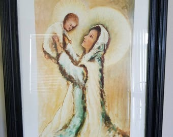 Father Casto Marrapese Madonna and Child framed Print