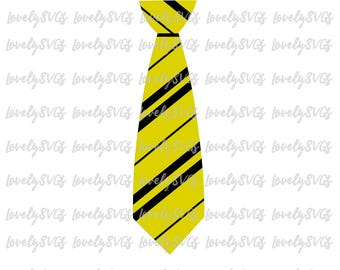 Instant Download SVG Studio3 - Hufflepuff Tie - Silhouette Cricut Files