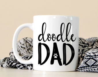 Doodle Dad Coffee Mug - Golden Doodle Lover - Gift For Christmas - Cute Coffee Mug - Dog Dad